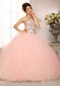 chagne colored quinceanera dresses multi colored all beaded bodice on a ruffled tulle