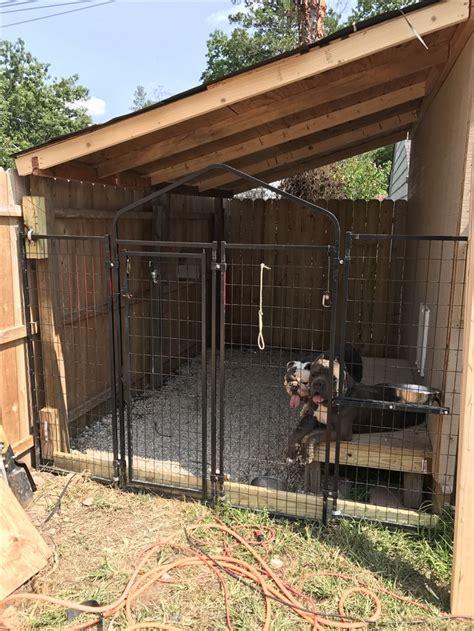 built  dog kennel   side   shed dog kennel
