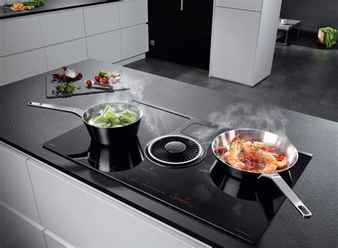Attrayant Table Cuisine Gain De Place #2: AEG-table-induction-ComboHob-hotte-integre.jpg