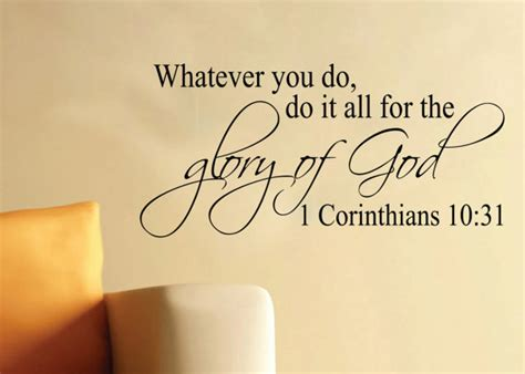 Cloud Stickers For Walls 1 corinthians 10 31 whatever you do do it all for by