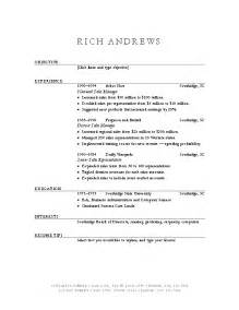 Resume Template Ms Word by Resume