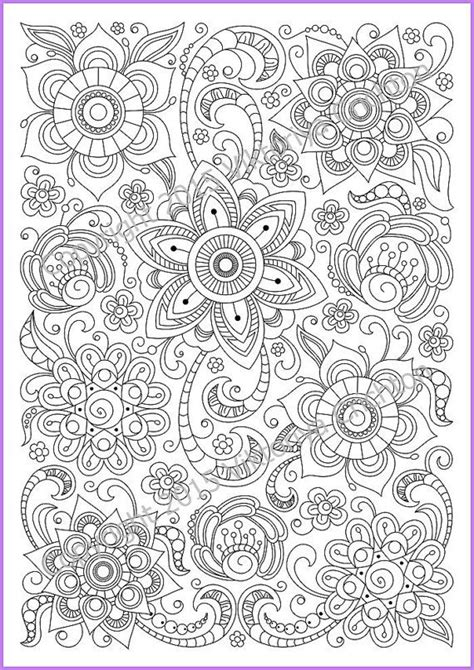 floral inspirations a detailed floral coloring book books coloring page pdf adults and children printable doodle