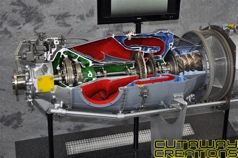 pratt whitney pt6 engine cutaway of a mainstay available pt6 turboprop engine cutaway creations