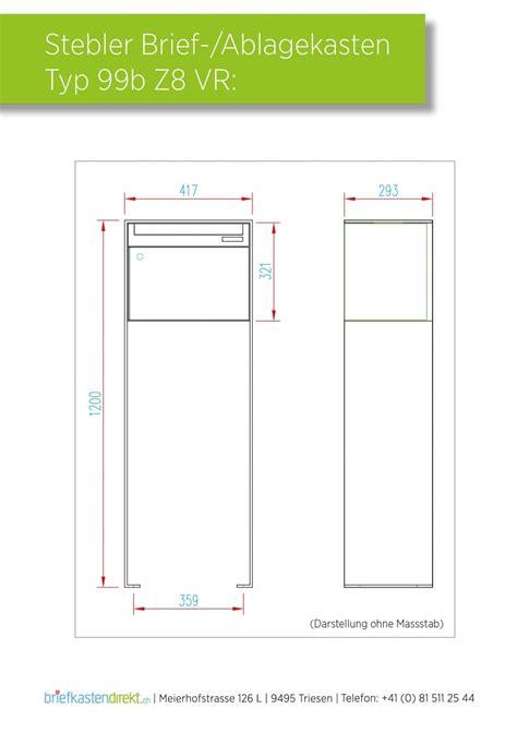 Schweiz Briefkasten Norm stebler briefkasten 99b z8 ral 7016 freistehende