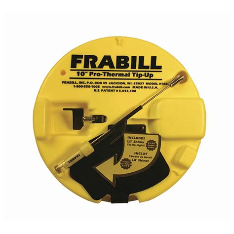 frabill tip up light frabill chartreuse pro thermal tip up with lil shiner