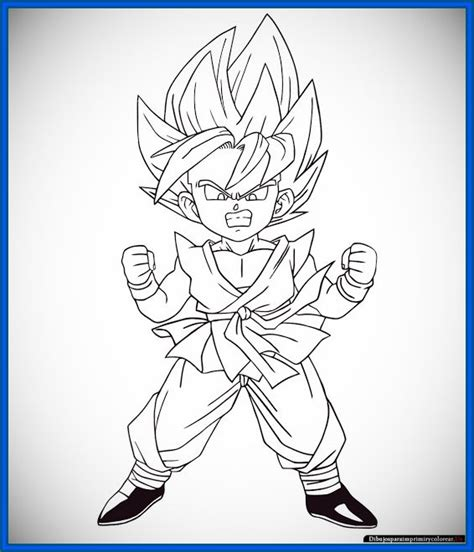 imagenes goku para dibujar faciles dragon ball gt para colorear goku archivos dibujos de