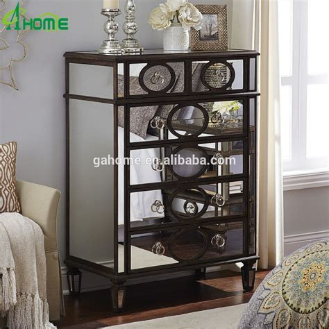 modern mirrored furniture new modern mirrored bedroom chest furniture buy