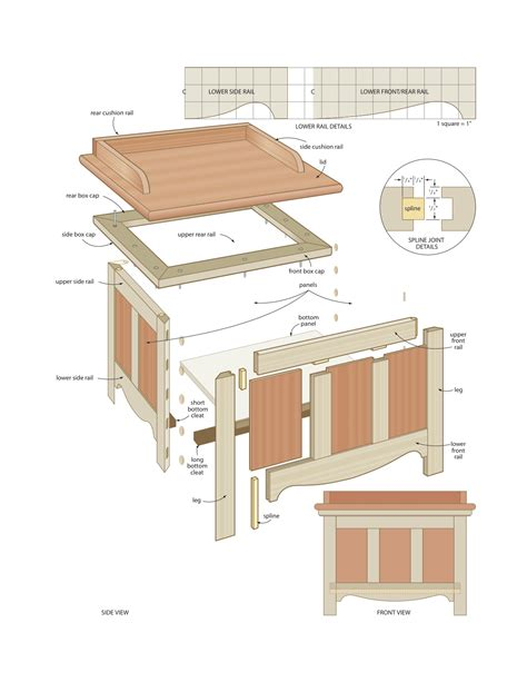 woodworking bench plans free wood work plans for storage bench pdf plans