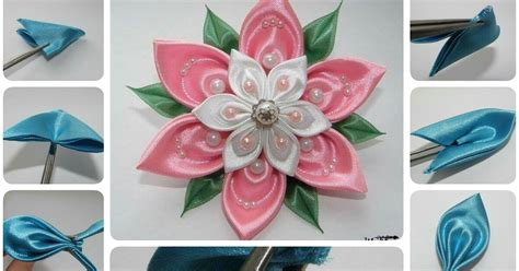 Art To Decorate Your Home how to make beautiful ribbon flower crazzy craft