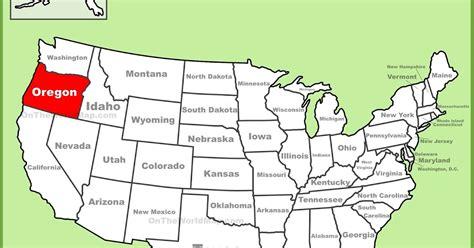 map  oregon state map  usa