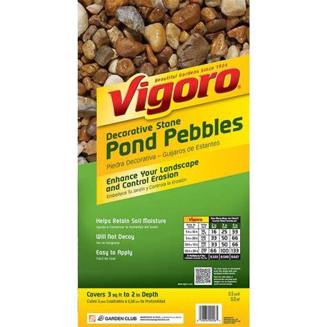 vigoro 0 5 cu ft pond pebbles 54249v the home depot