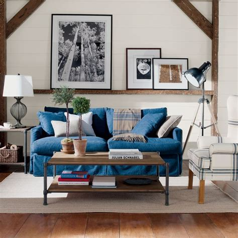denim living room furniture 1000 ideas about denim sofa on pinterest navy sofa