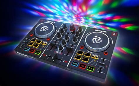 dj table guitar center mix dj controller with built in light numark