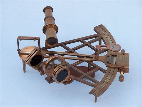 sextant rolls admiral s antique brass sextant 12 quot with rosewood box