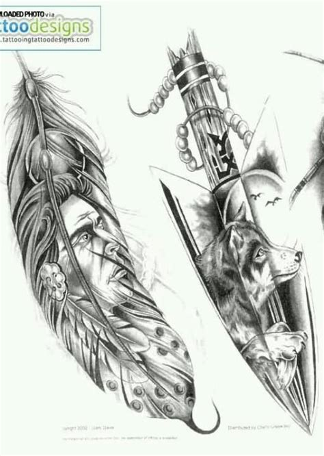 wolf feather tattoo designs indian images designs