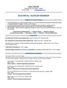 Electrical Engineer Resume Template   Latest Resume Format