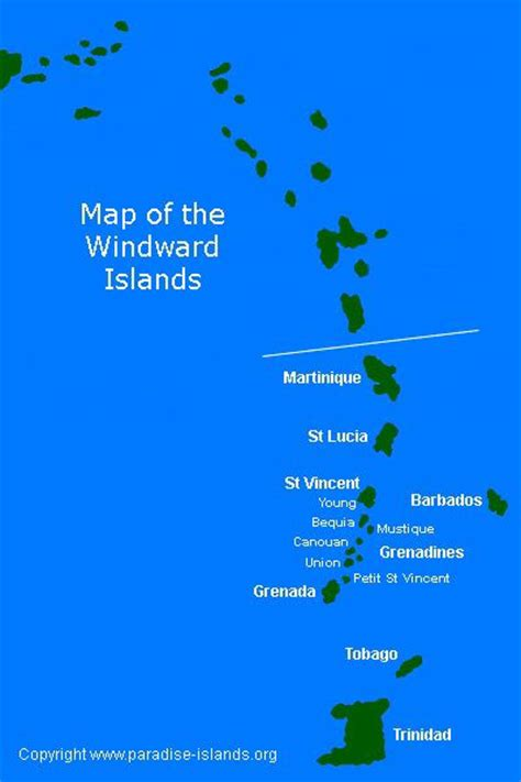 antilles islands map map of the windward islands caribbean st lucia