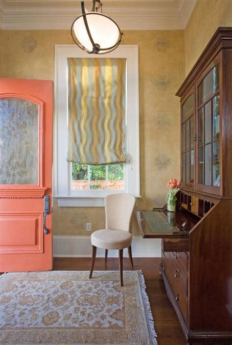 exceptional Living Room With Orange Accents #2: peach-entryway.jpg