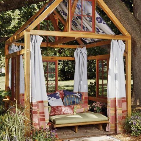 outdoor garden rooms drapery medallions a great choice for outdoor garden rooms