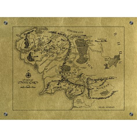 ink mapping middle earth map aluminum black ink sci fi screen