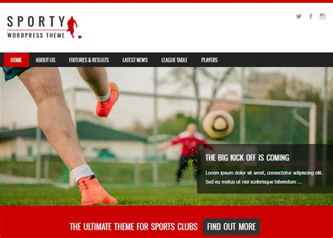 themes wordpress free sport sporty free wordpress sports theme from template express