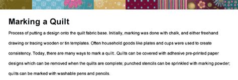 Quilt Terms by Quilting Terms For Beginners A M