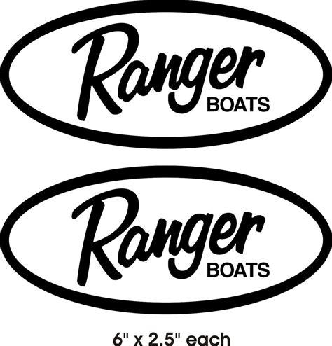 ranger boats window decals 2 6 quot x 2 5 quot vinyl graphic ranger boat decal sticker