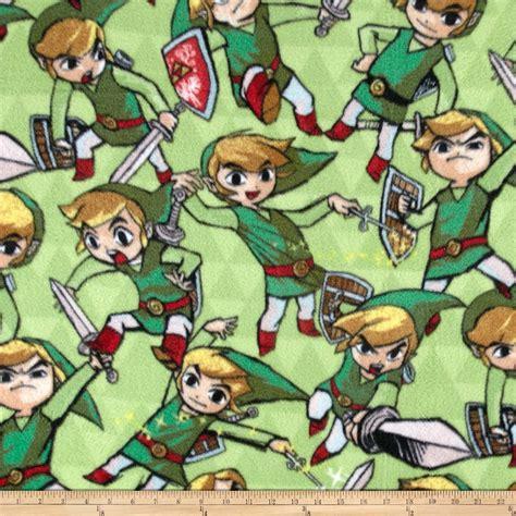 Zelda Pattern Fleece | nintendo zelda fleece sword shield green discount