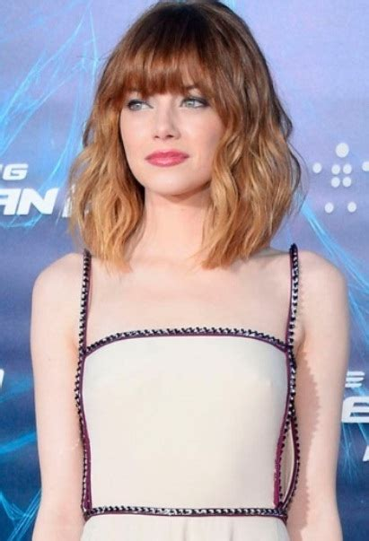 the lob with bangs 20 different long bob with bangs lob haircut and