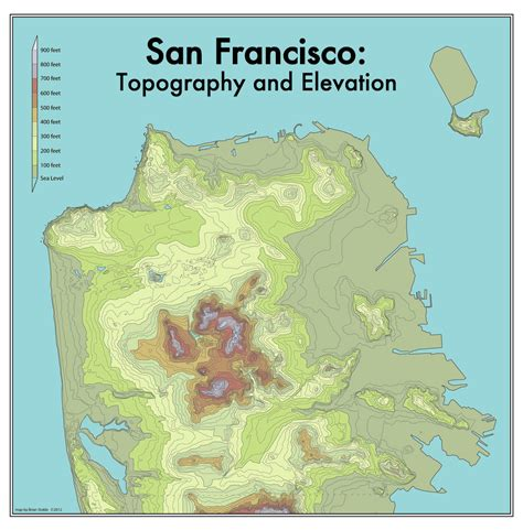 san francisco map elevation the steepest streets in san francisco