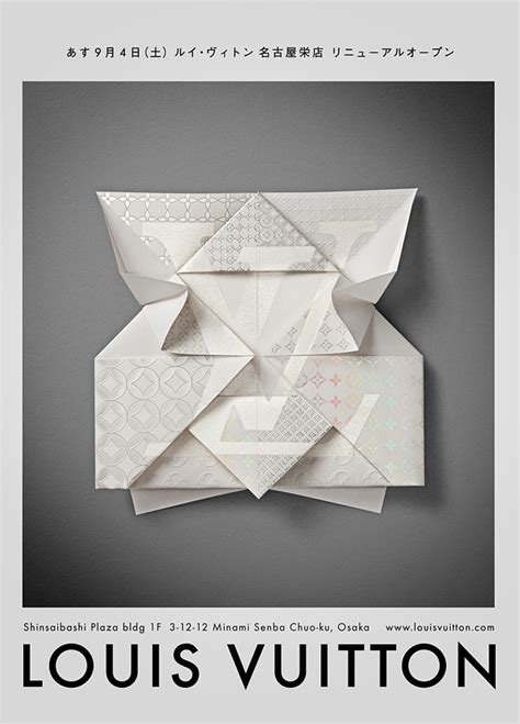 Origami Process - louis vuitton origami printing process