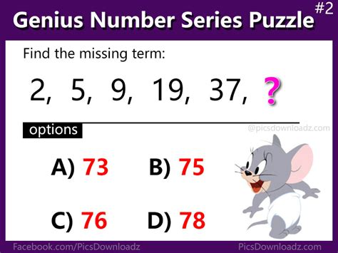 find pattern series numbers solve these 5 number series puzzles question genius