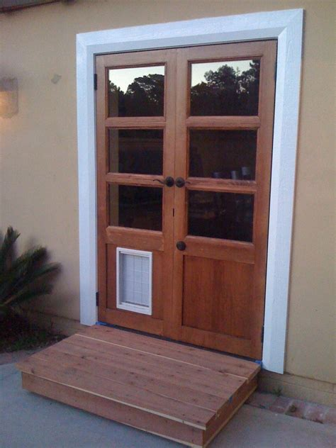 exterior doors with pet doors built in door with built in door must for owners interior exterior ideas