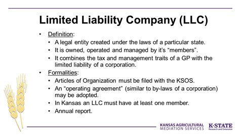 limited liability company facts information pictures forrest buhler staff attorney kansas agricultural