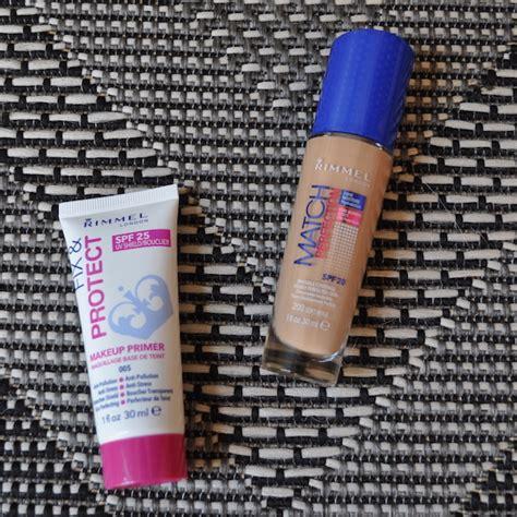 Rimmel Primer Fix And Protect rimmel match perfection foundation fix protect makeup
