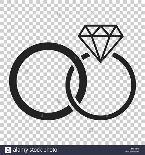 engagement ring with diamond vector icon in flat style wedding jewelery ring illustration on
