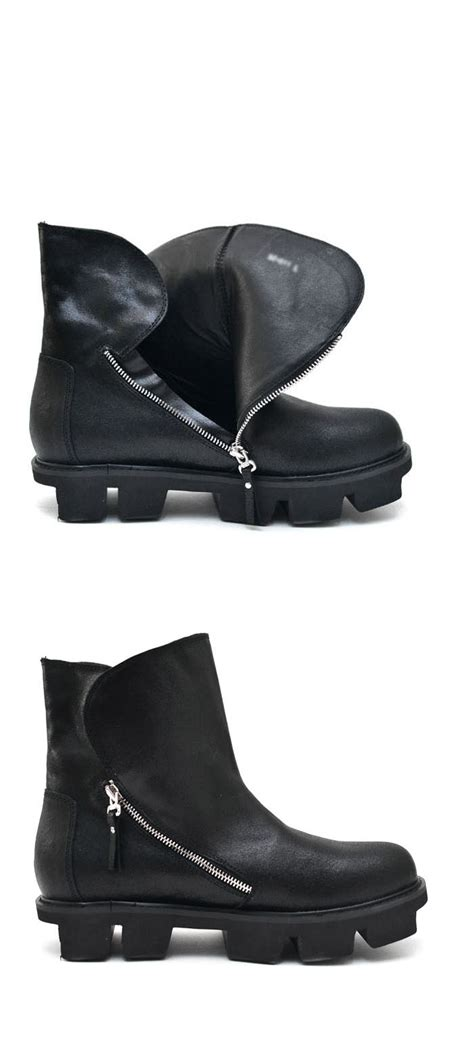 shoes lug sole coated leather hiker boots shoes 356