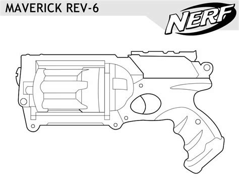 coloring page of a gun nerf gun outlines google search nerf pinterest