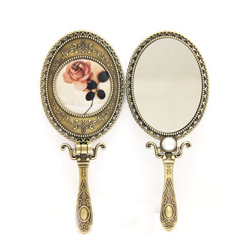 Held Vanity Mirrors by Vintage Folding Carry On Makeup Mirror Vanity Mirror