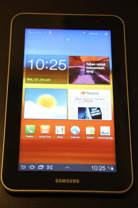Tablet Samsung Lama samsung galaxy tab 7 plus telah tiba di malaysia jualan akan dimulakan tidak lama lagi amanz