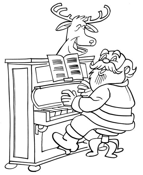 coloring page girl playing piano playing the piano coloring pages
