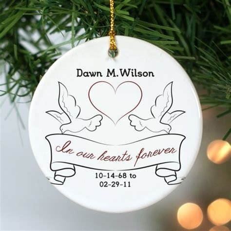 ceramic memorial christmas ornament personalized memorial