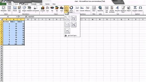 2 4 construct ogive with excel youtube how to create a scatter plot in microsoft excel 2010 avi
