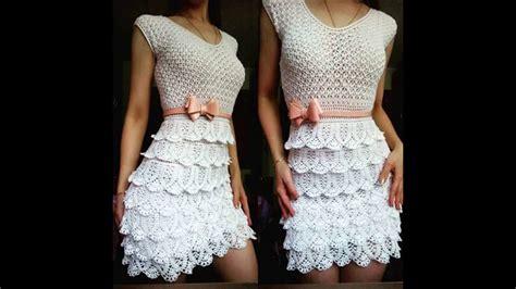 Tejidos Elegantes De Crochet | vestidos de mujer tejidos a crochet youtube