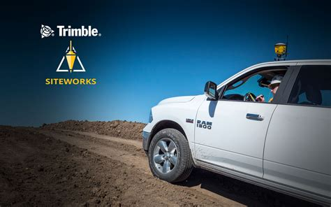 trimble siteworks positioning system trimble civil engineering  construction