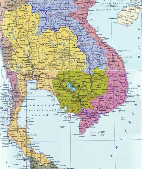 map of thailand country geo thailand detailed view of country