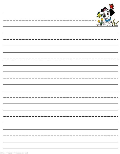 printable stationery for elementary students lined kindergarten writing paper printable template