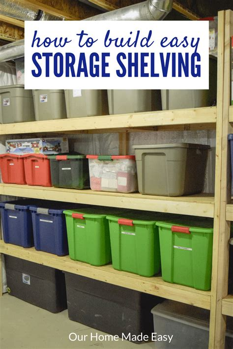 tote storage shelves easy diy storage shelving for less than 70 our home made easy