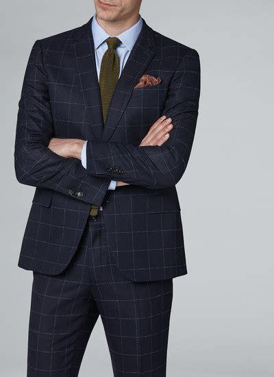 Slim Fit Wool Size 31 navy blue windowpane slim fit suit 18ec3jadd lc28 31 s suit