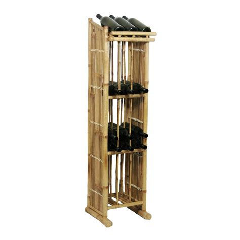 Lowes Wine Rack by Shop Bamboo 54 Freestanding Floor Wine Rack At Lowes